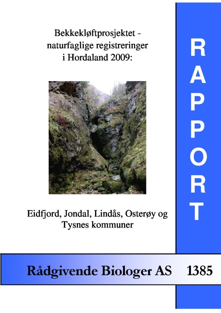 Rapport cover - rapport 1385