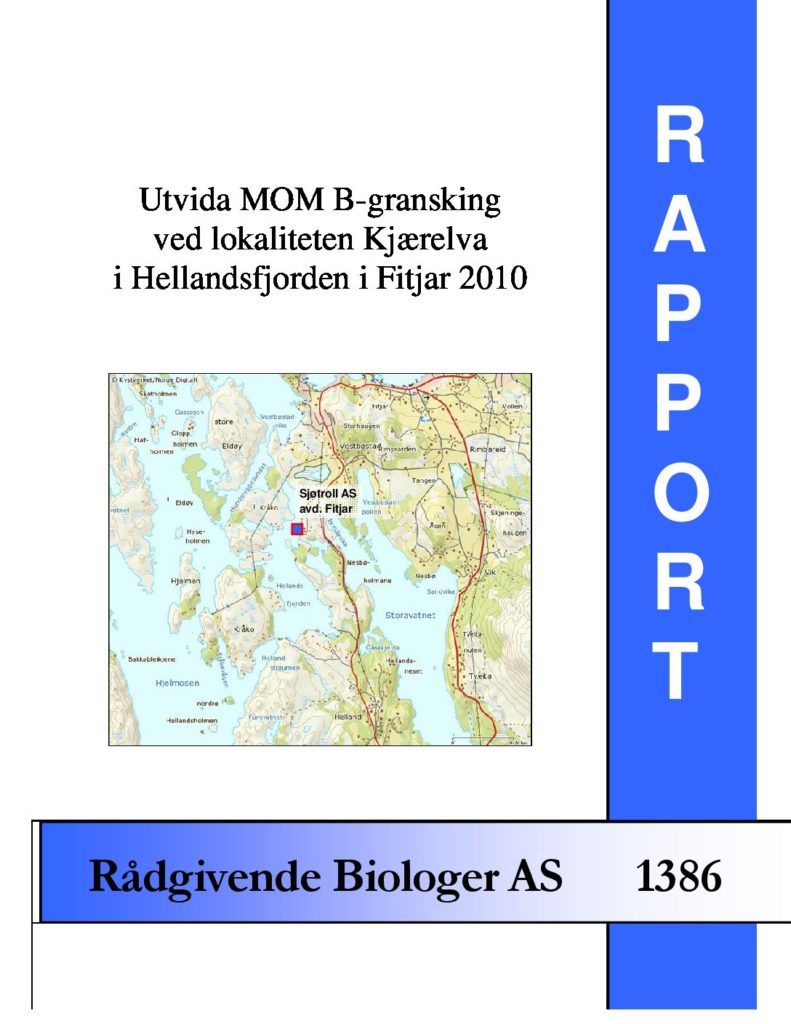 Rapport cover - rapport 1386