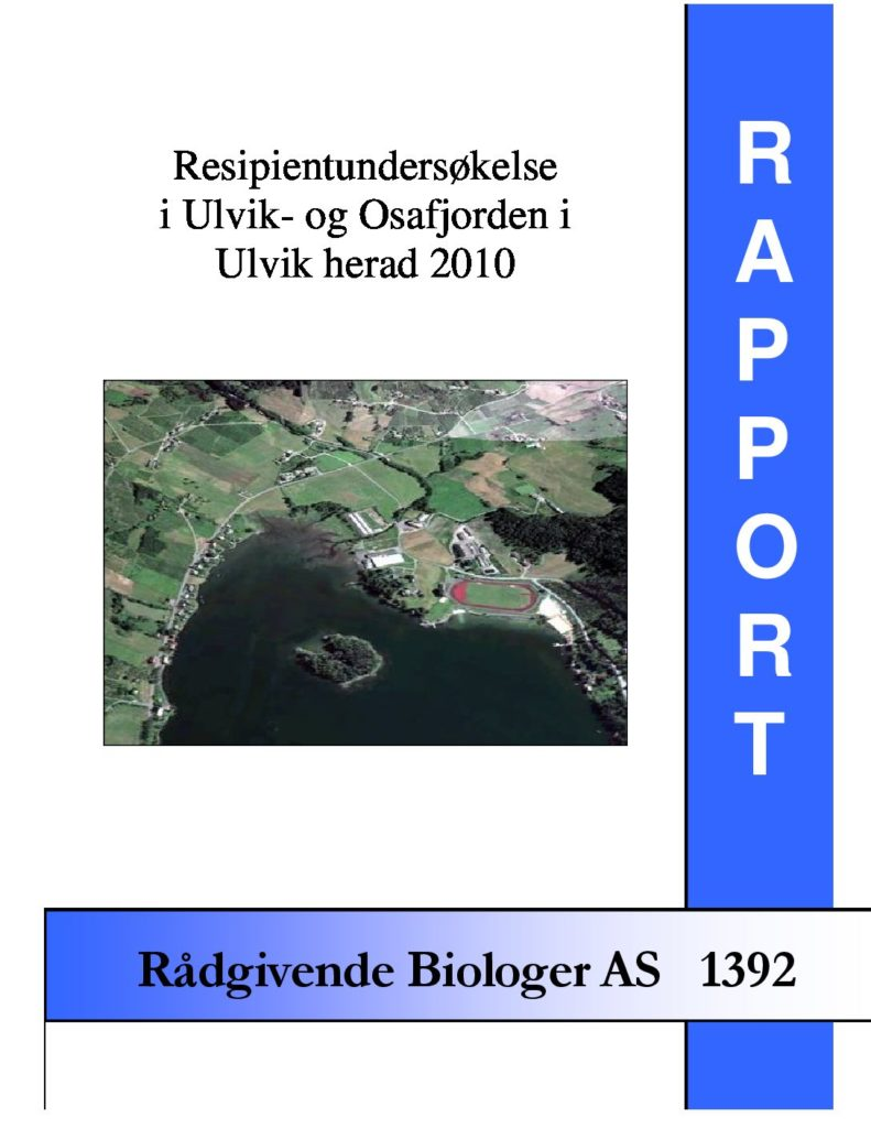 Rapport cover - rapport 1392