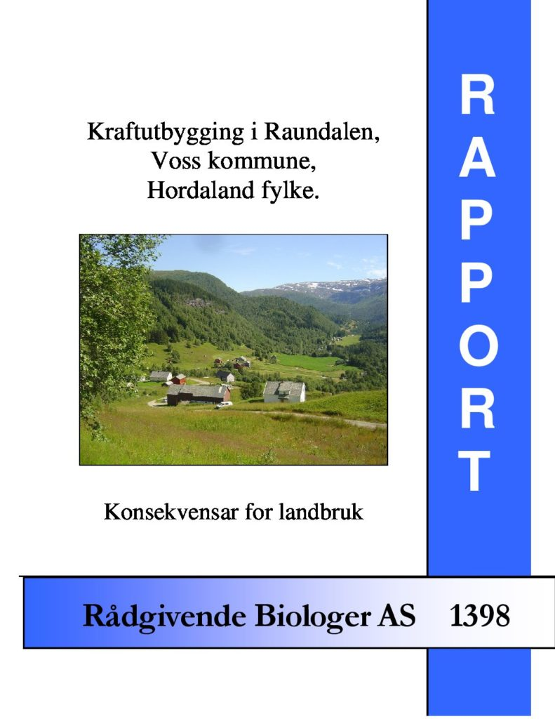 Rapport cover - rapport 1398
