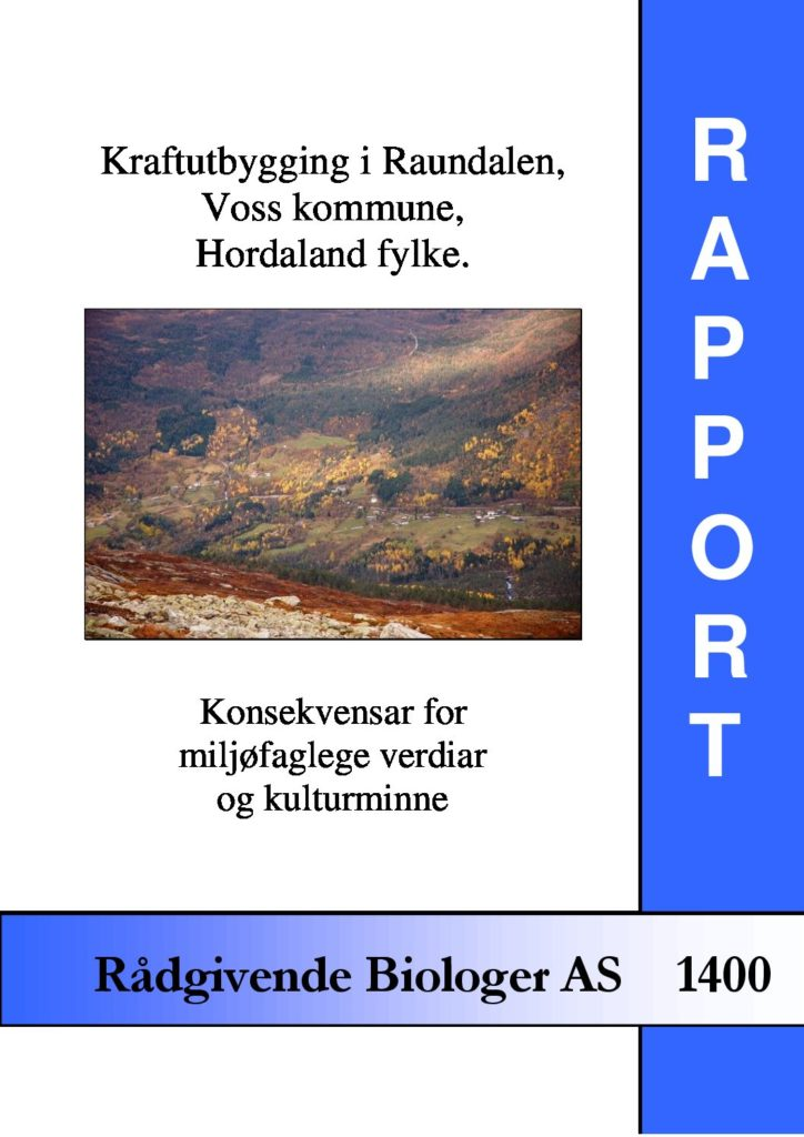 Rapport cover - rapport 1400