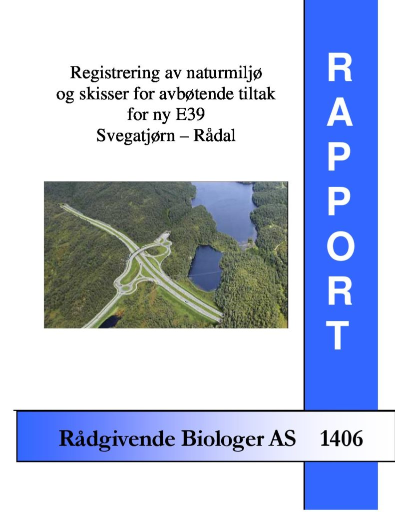 Rapport cover - rapport 1406