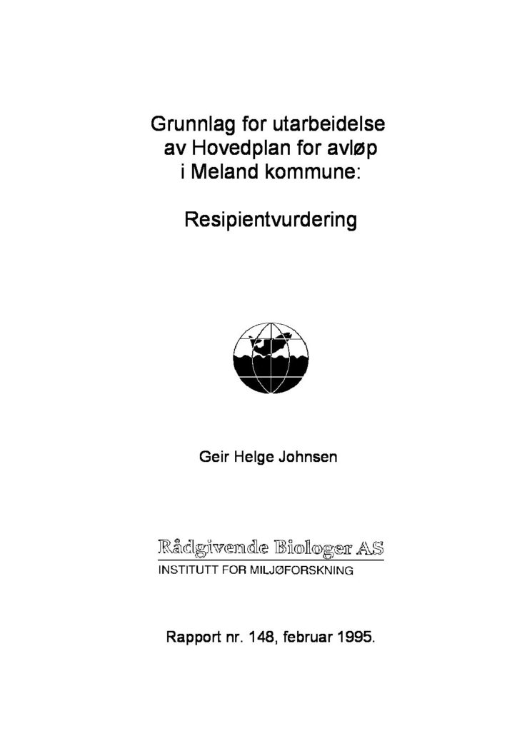 Rapport cover - rapport 148