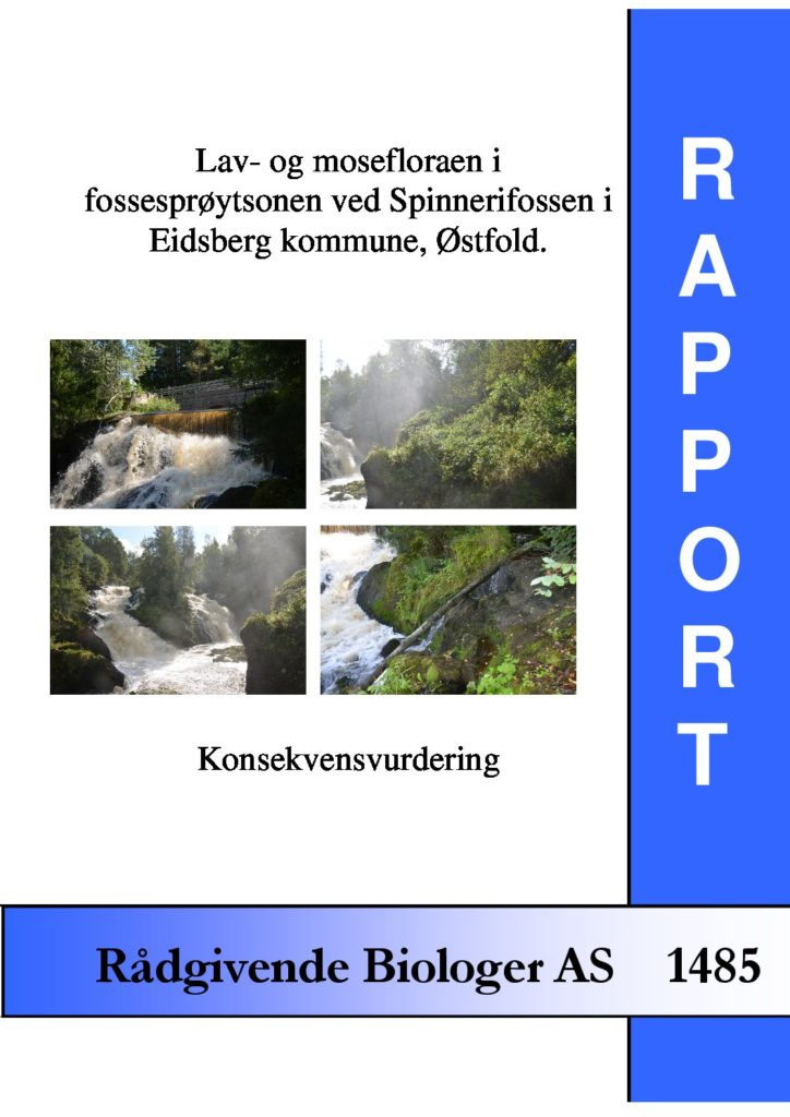 Rapport cover - rapport 1485