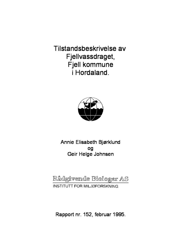 Rapport cover - rapport 152