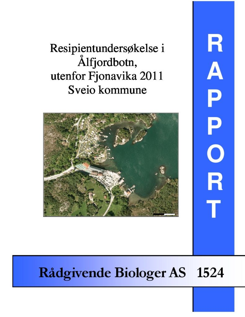 Rapport cover - rapport 1524