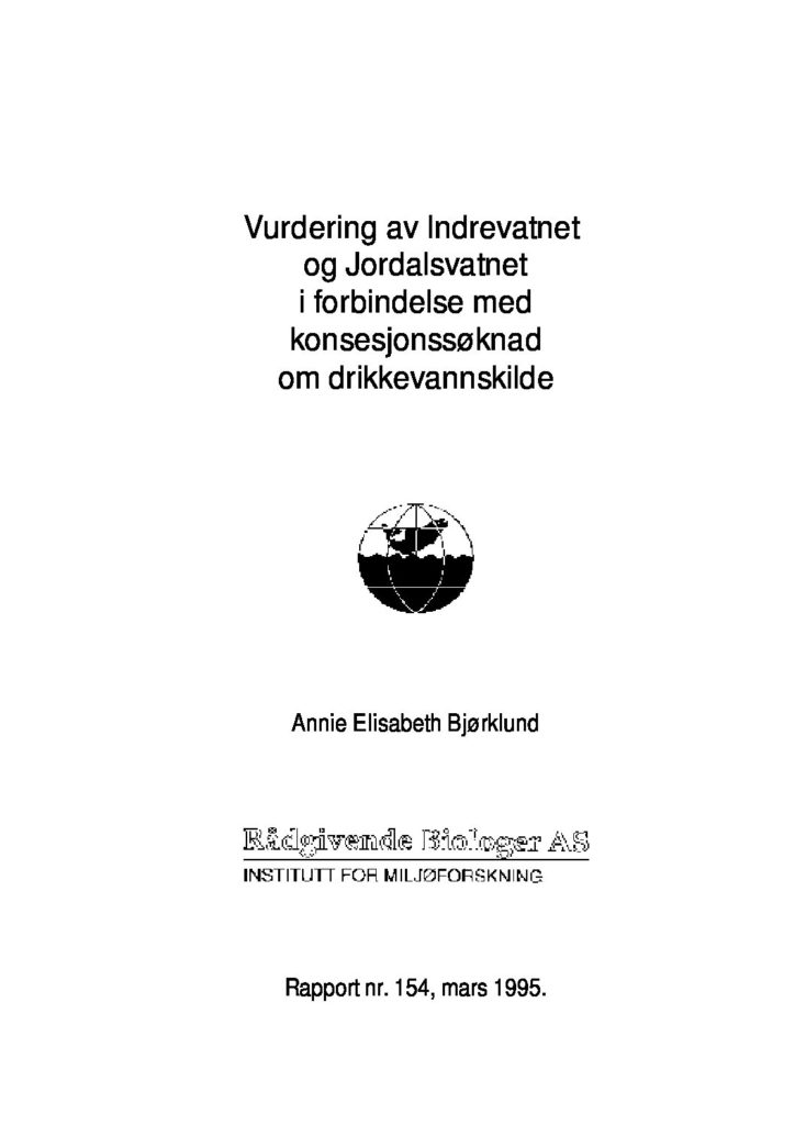 Rapport cover - rapport 154