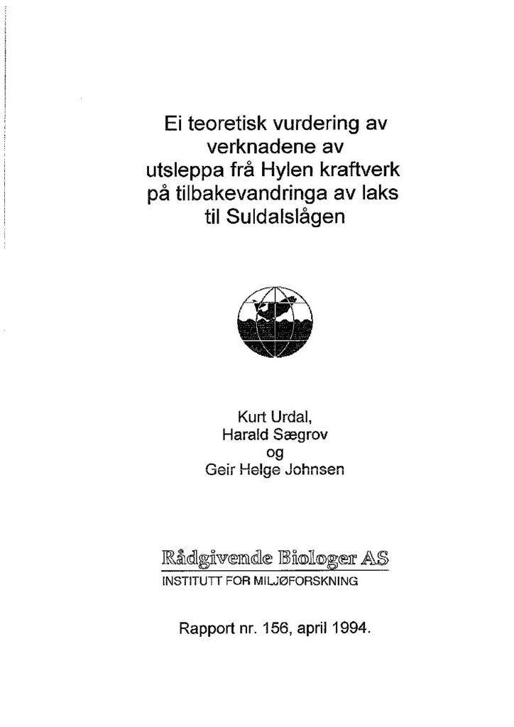 Rapport cover - rapport 156