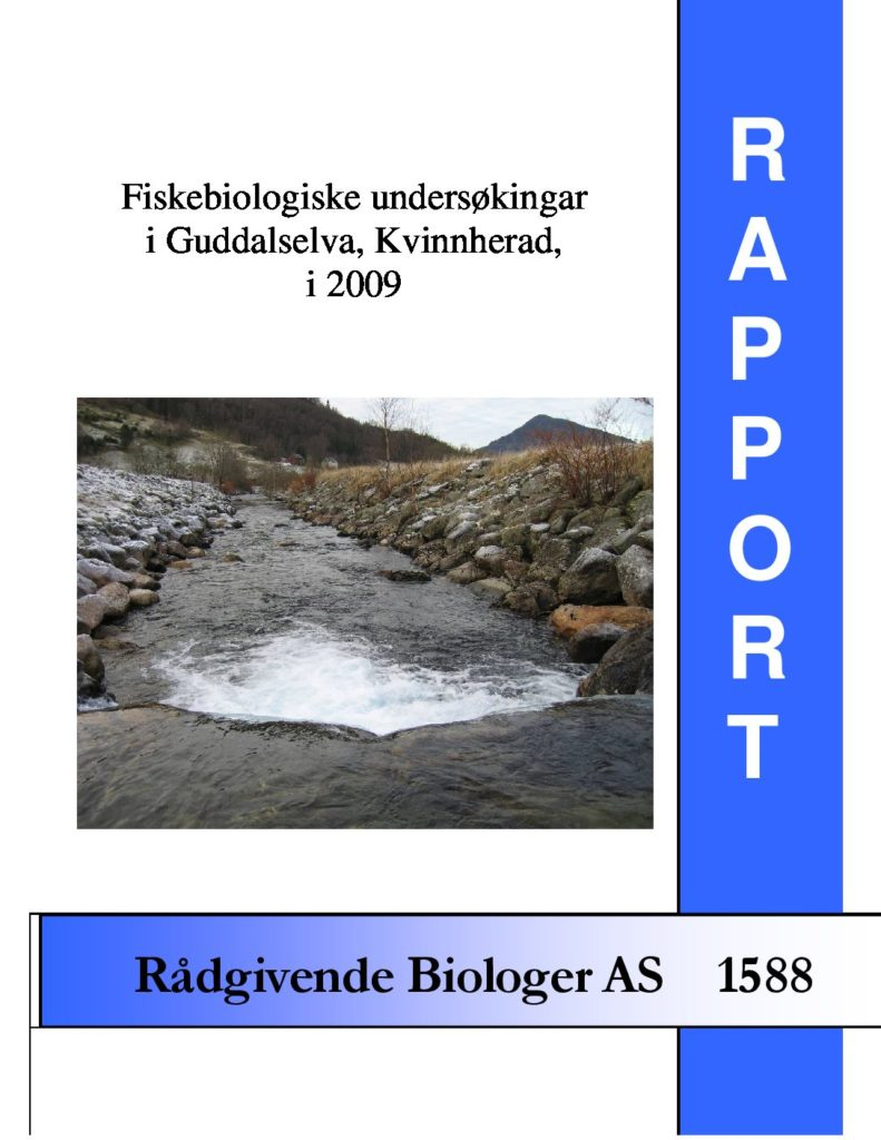 Rapport cover - rapport 1588