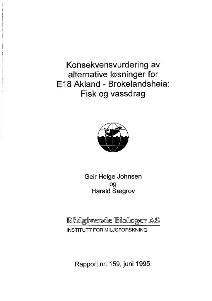 Rapport cover - rapport 159