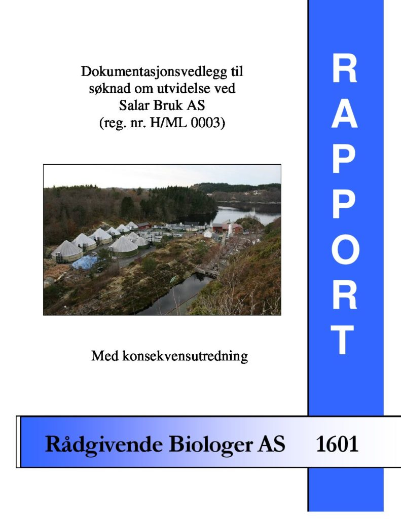 Rapport cover - rapport 1601