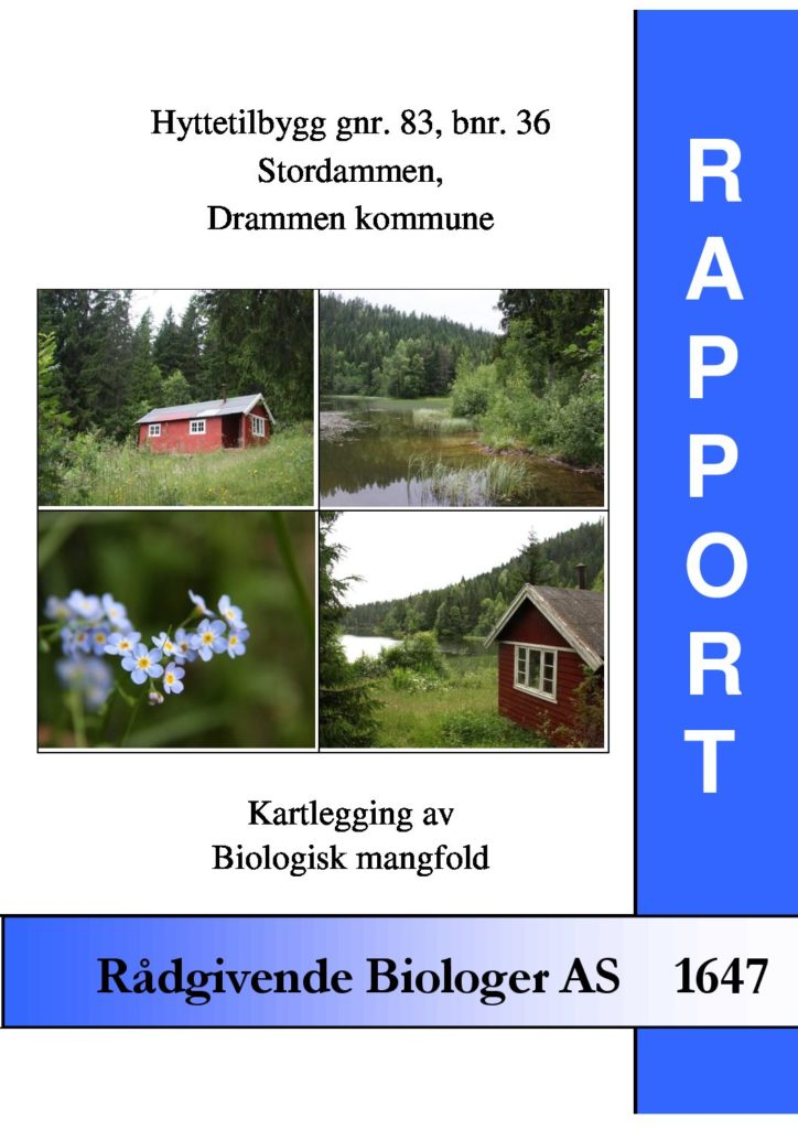 Rapport cover - rapport 1647