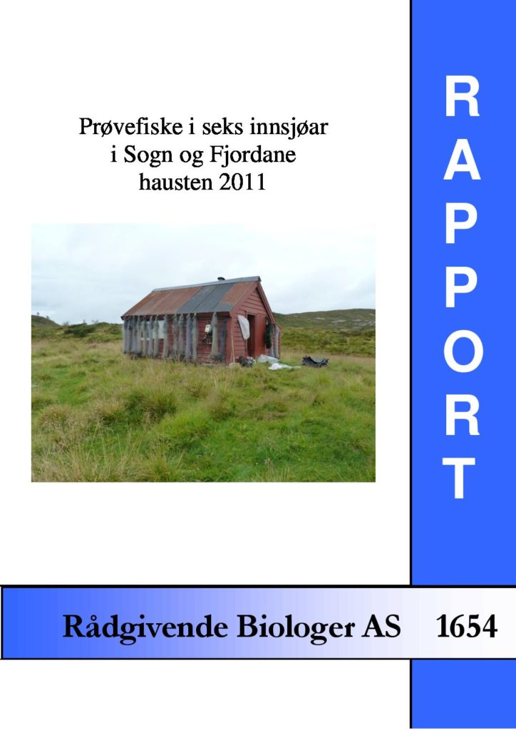 Rapport cover - rapport 1654