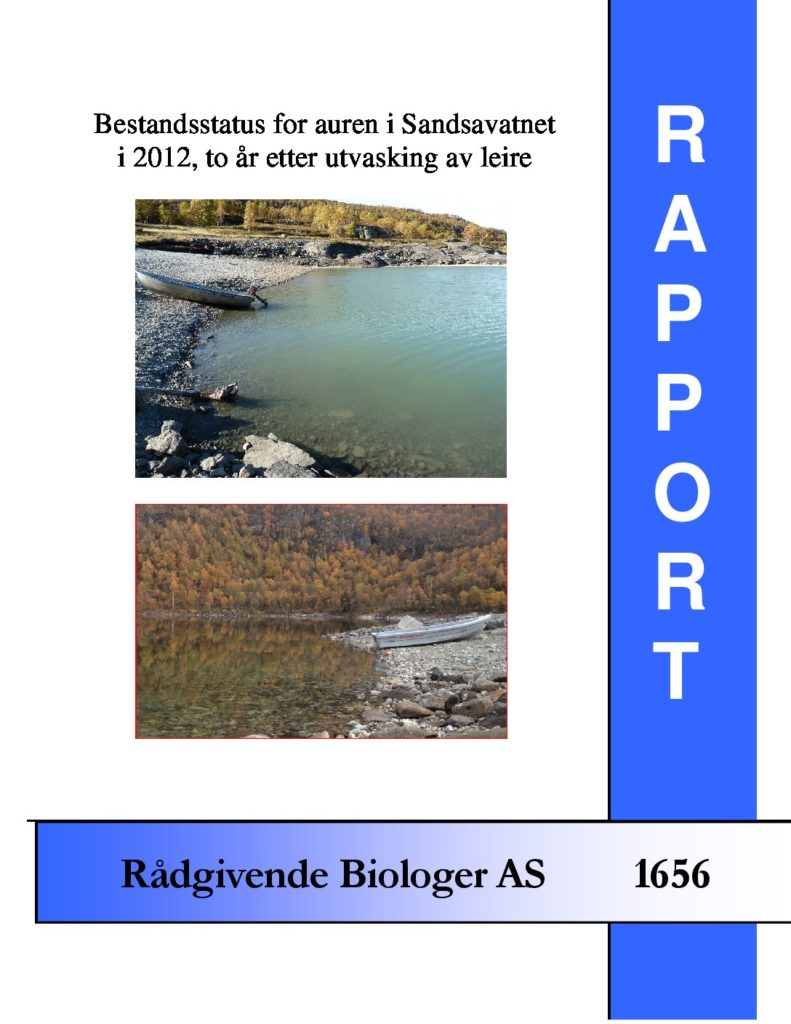 Rapport cover - rapport 1656