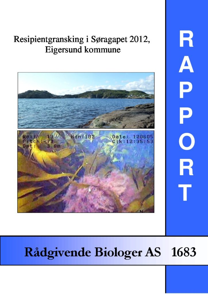 Rapport cover - rapport 1683
