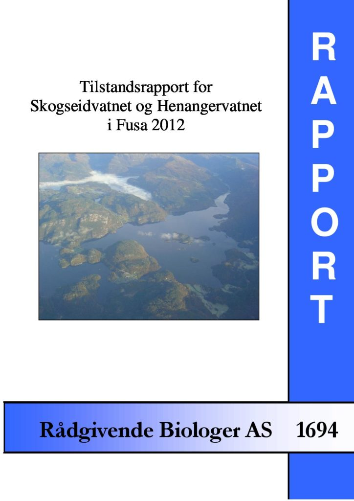 Rapport cover - rapport 1694