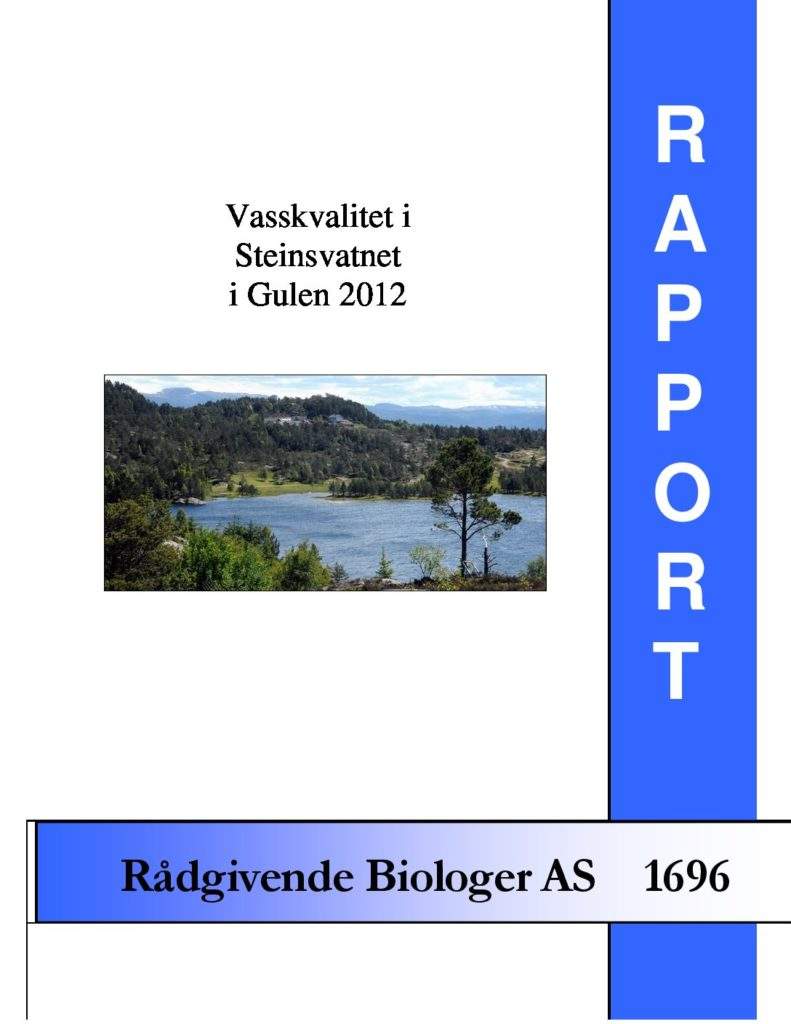 Rapport cover - rapport 1696