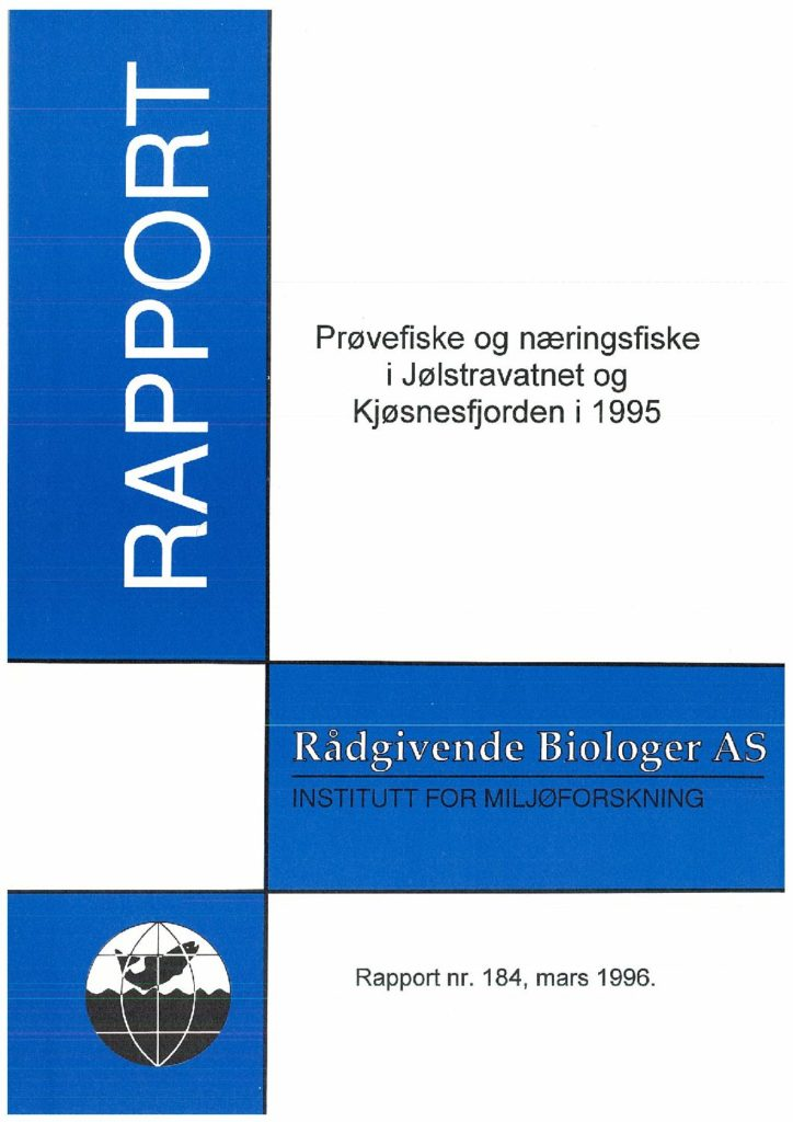 Rapport cover - rapport 184