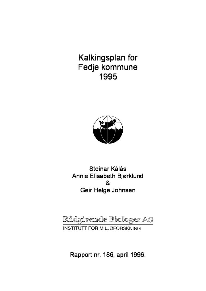 Rapport cover - rapport 186