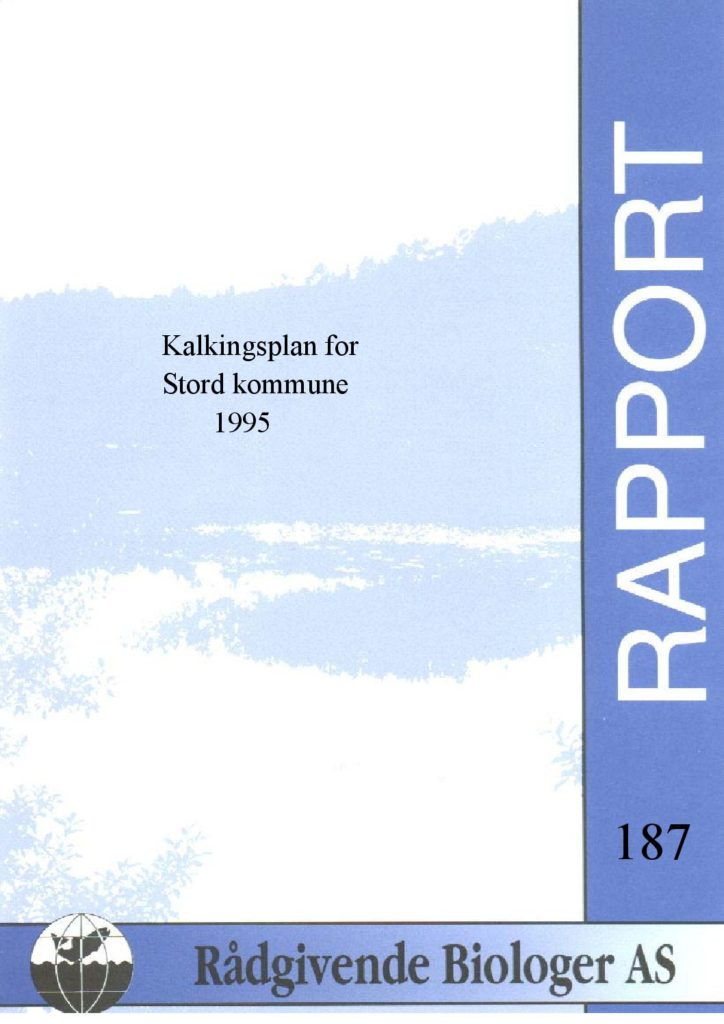 Rapport cover - rapport 187