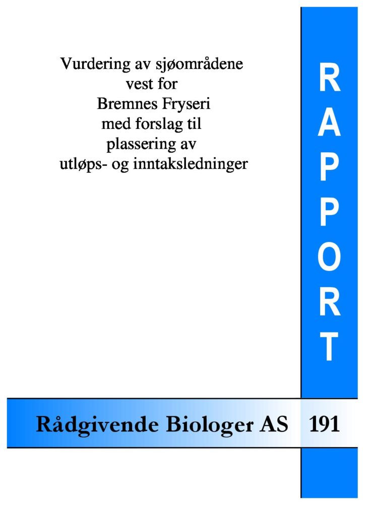 Rapport cover - rapport 191