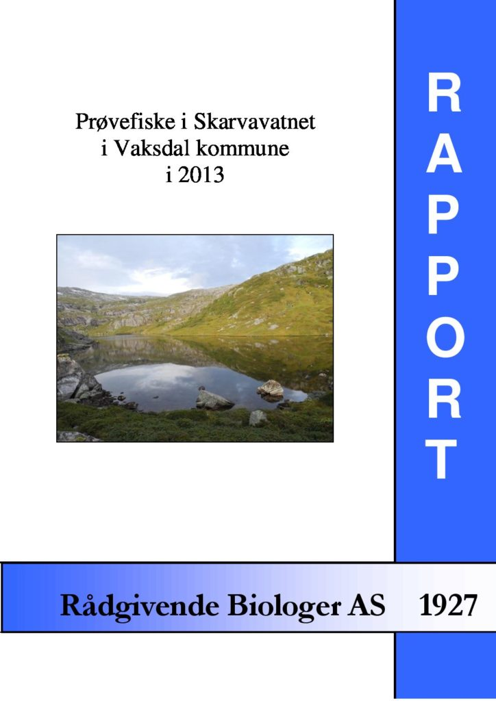 Rapport cover - rapport 1927
