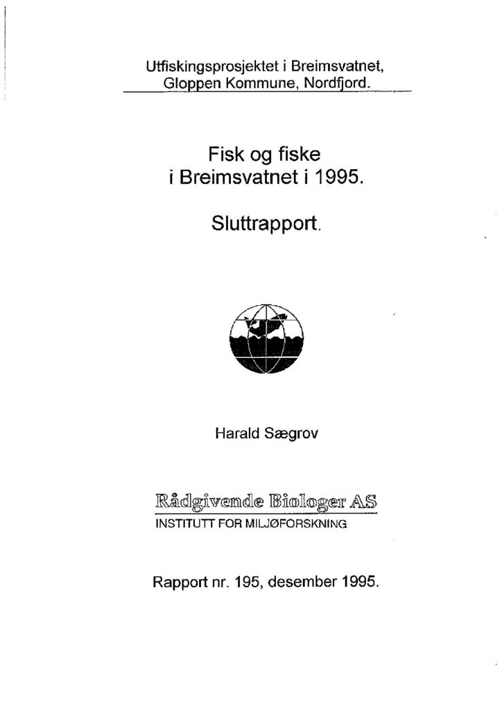 Rapport cover - rapport 195