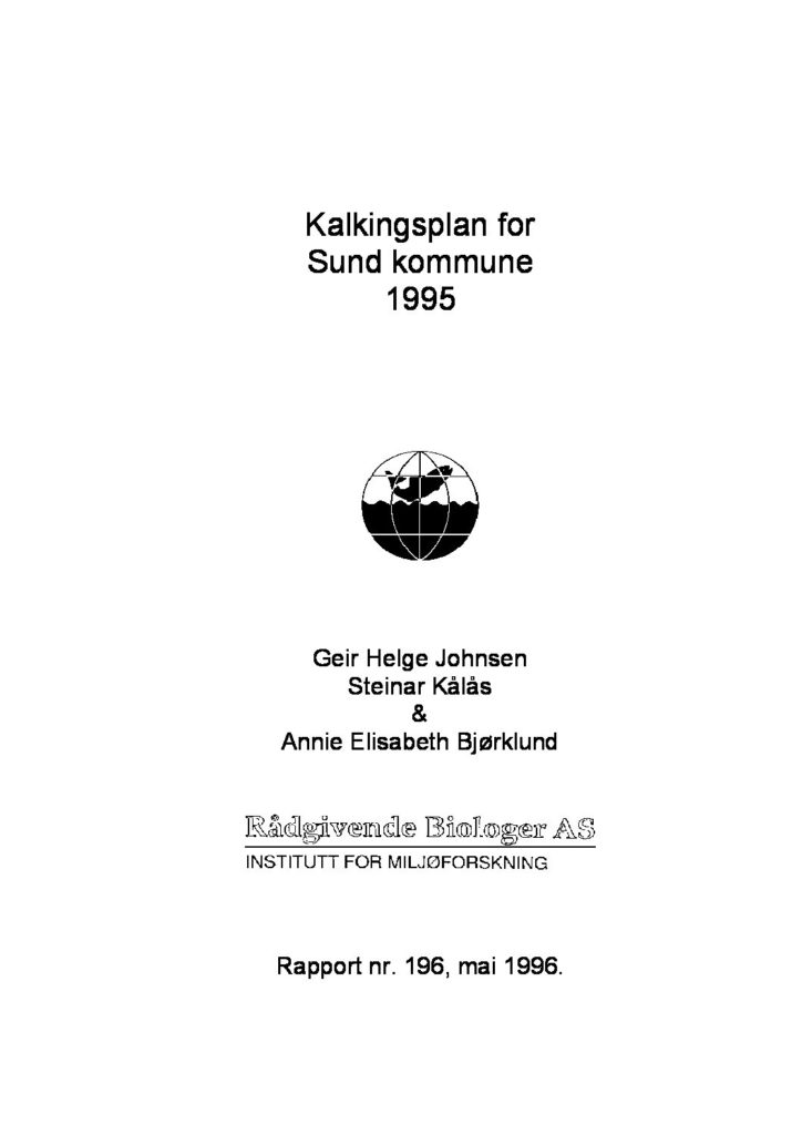 Rapport cover - rapport 196