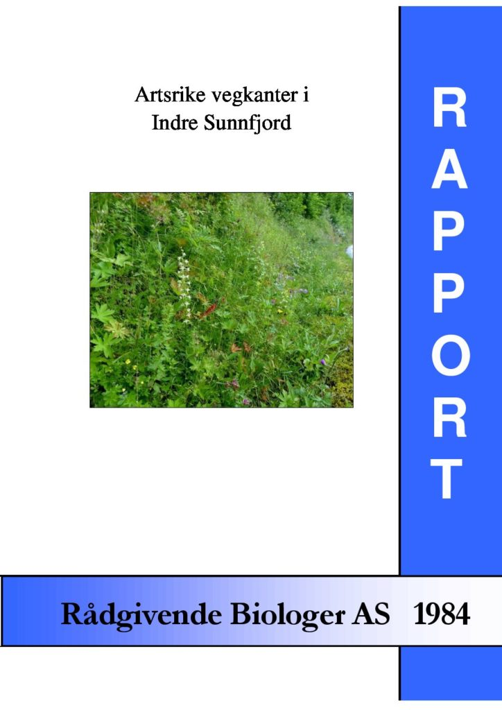 Rapport cover - rapport 1984