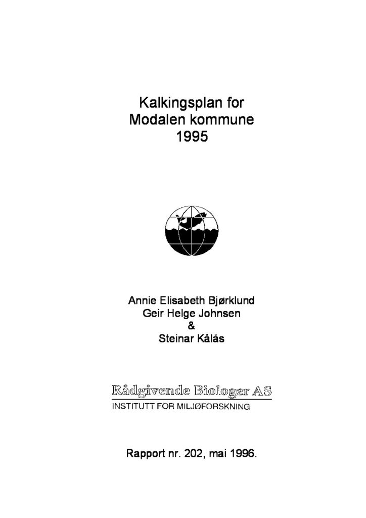 Rapport cover - rapport 202