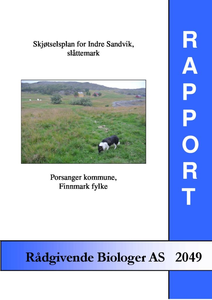 Rapport cover - rapport 2049