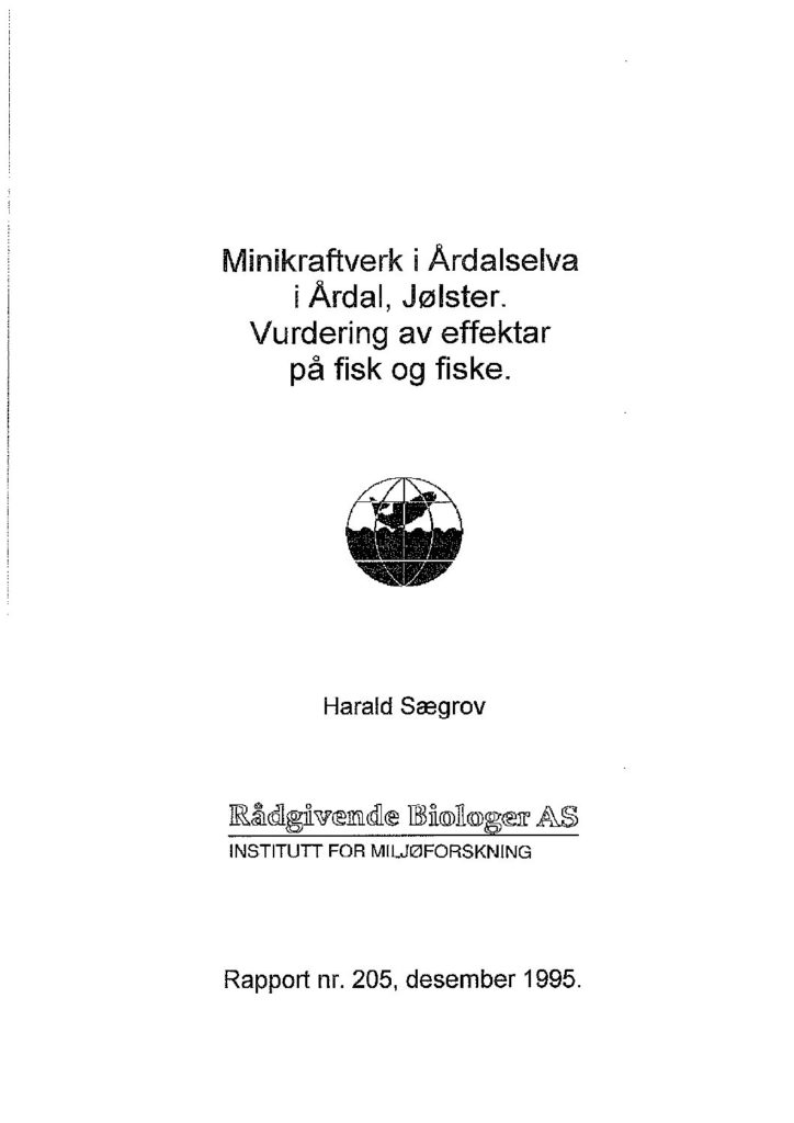 Rapport cover - rapport 205