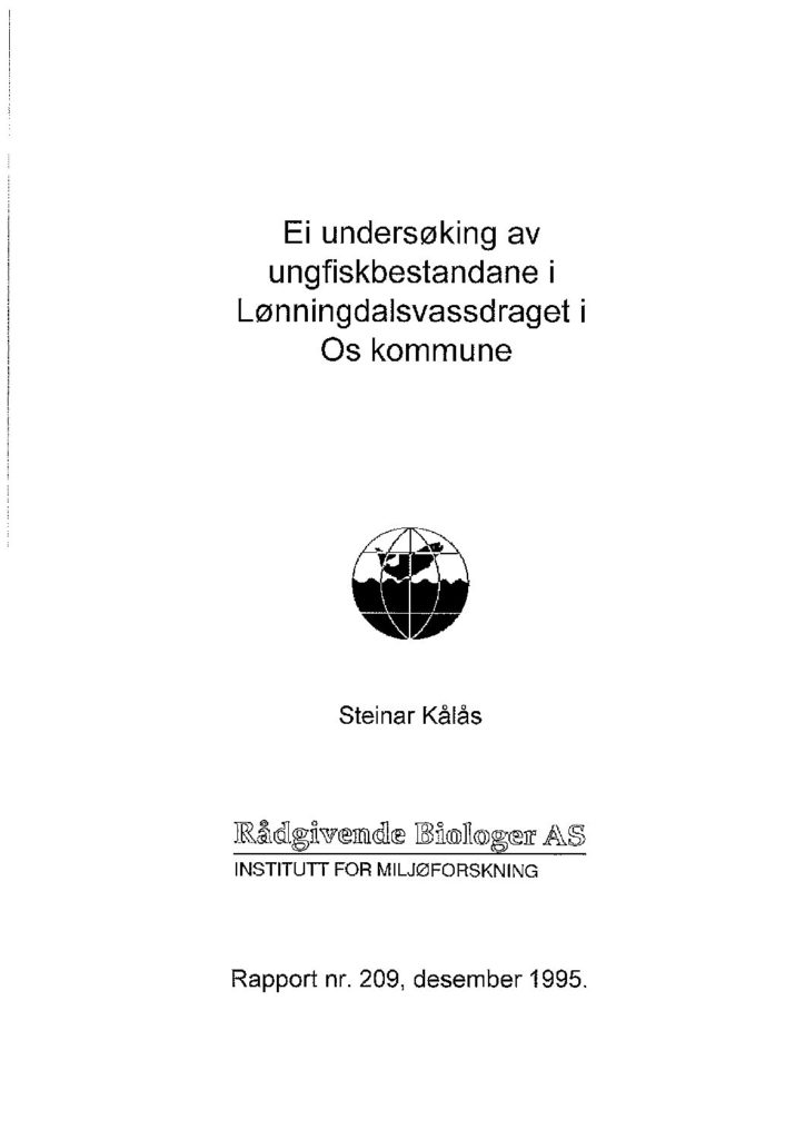 Rapport cover - rapport 209