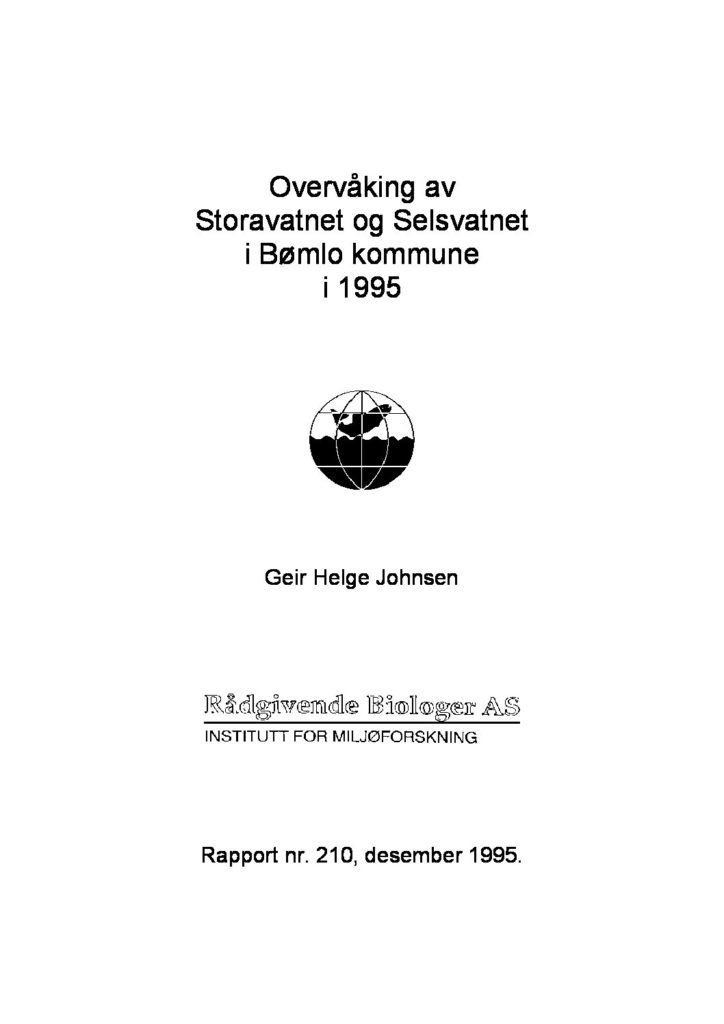 Rapport cover - rapport 210