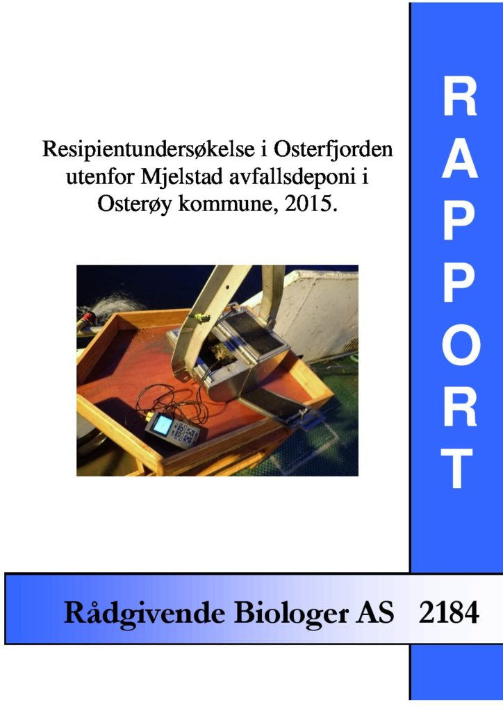 Rapport cover - rapport 2184