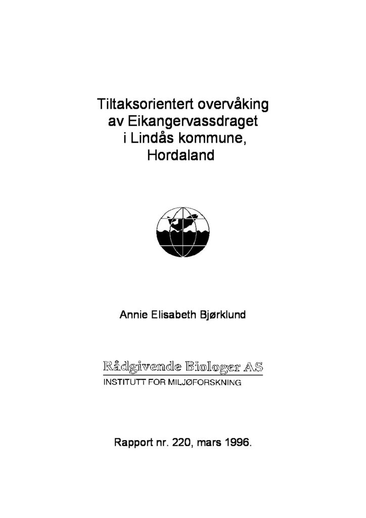Rapport cover - rapport 220