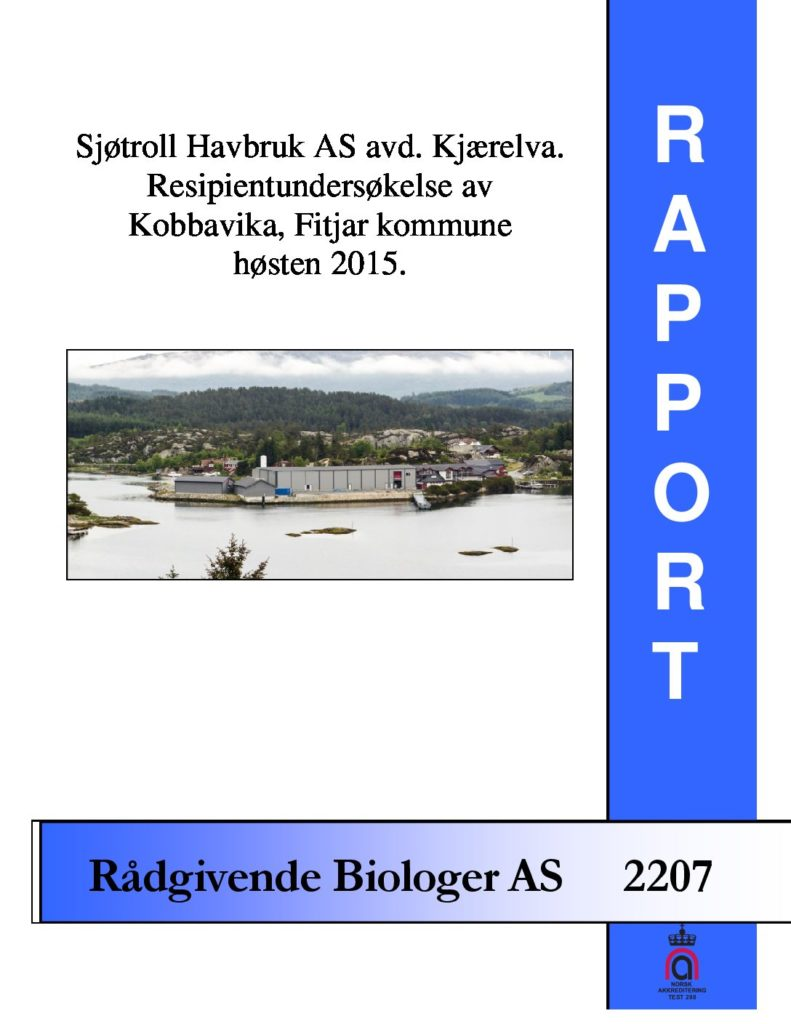 Rapport cover - rapport 2207