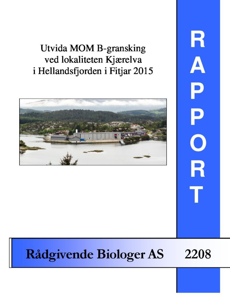 Rapport cover - rapport 2208