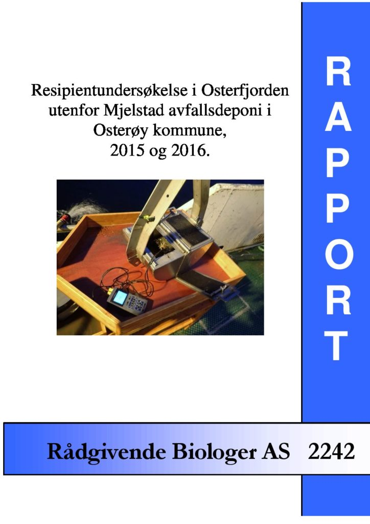 Rapport cover - rapport 2242