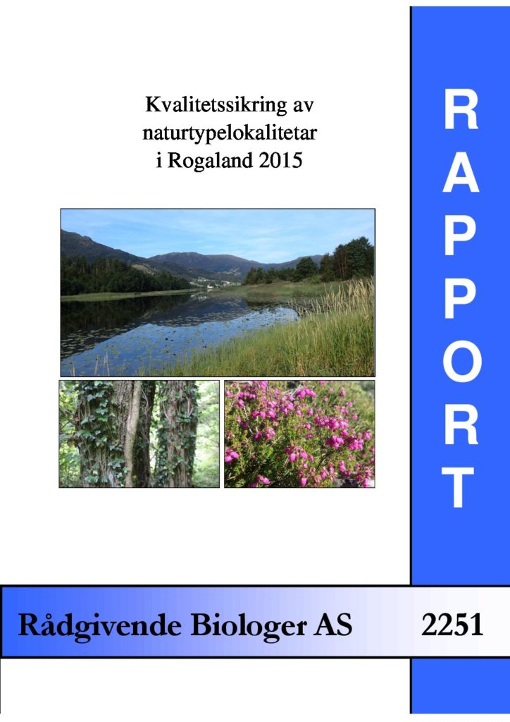 Rapport cover - rapport 2251