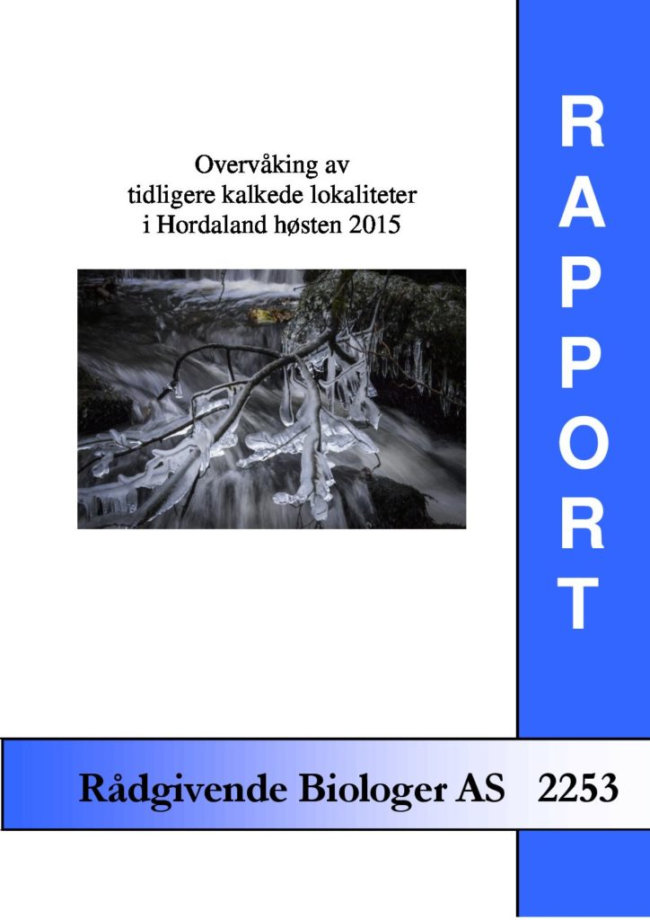 Rapport cover - rapport 2253