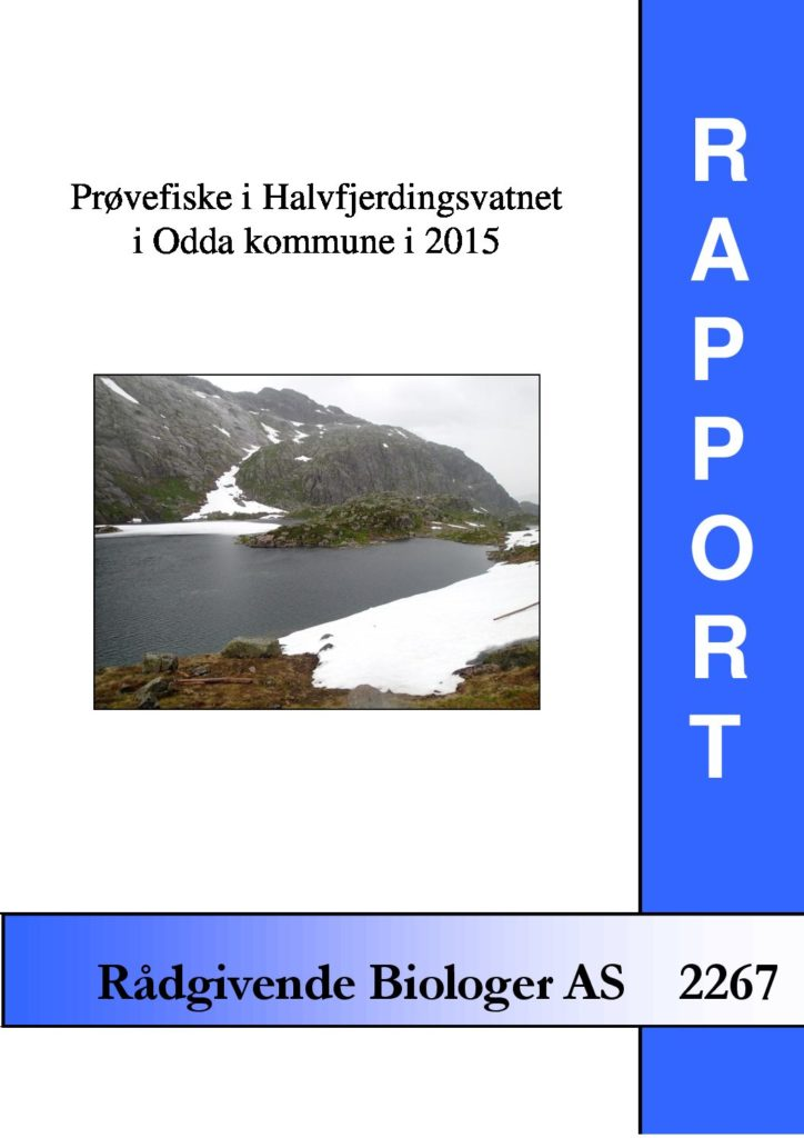 Rapport cover - rapport 2267