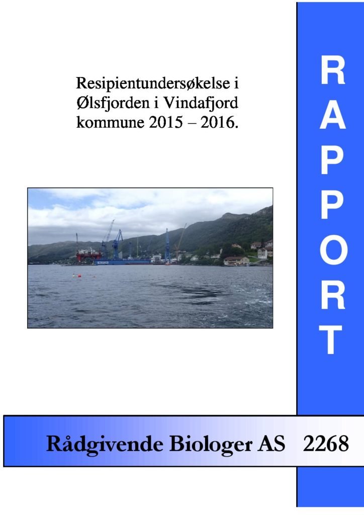 Rapport cover - rapport 2268
