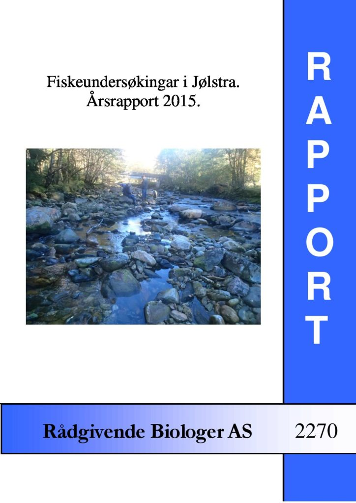 Rapport cover - rapport 2270