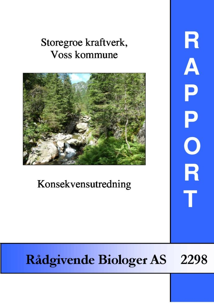 Rapport cover - rapport 2298