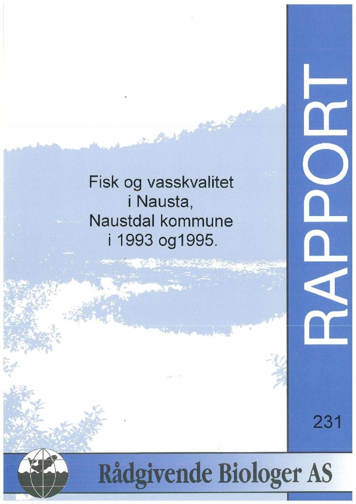 Rapport cover - rapport 231