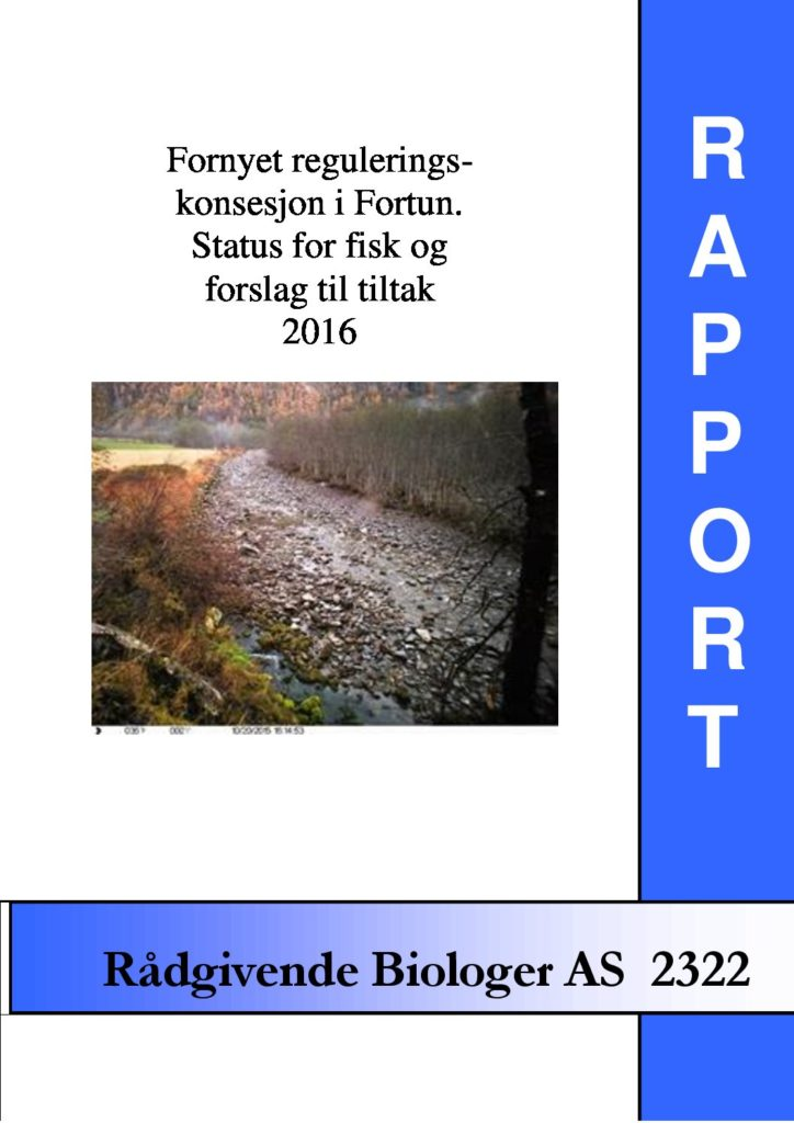 Rapport cover - rapport 2322