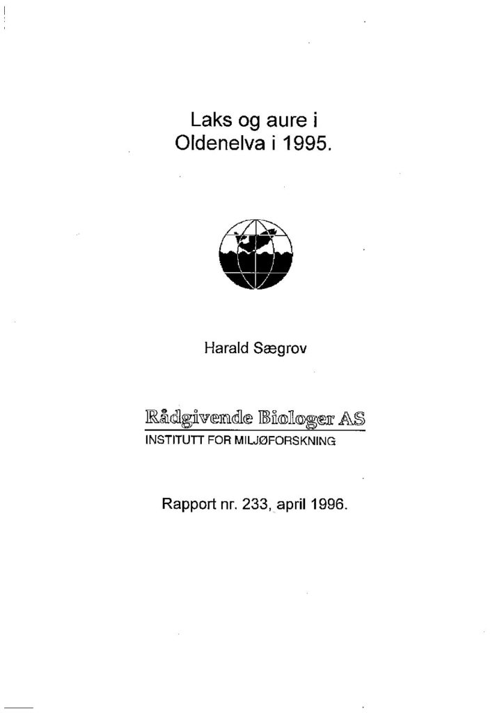 Rapport cover - rapport 233