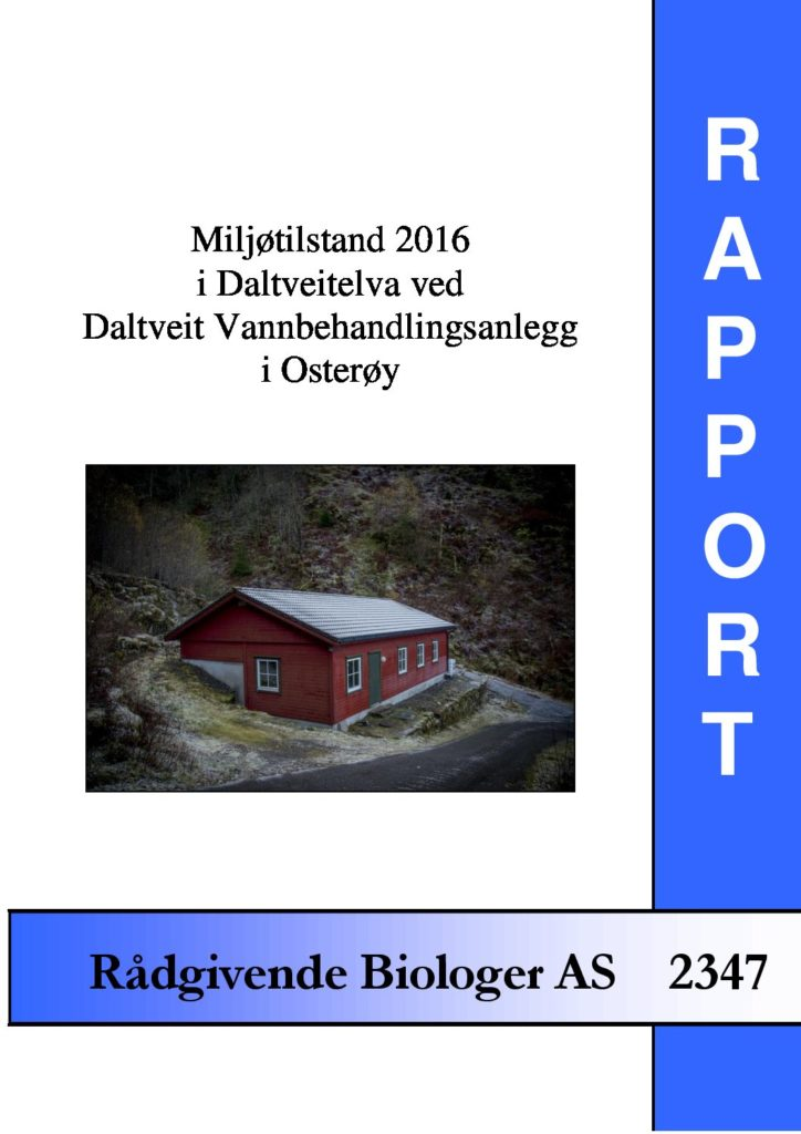 Rapport cover - rapport 2347