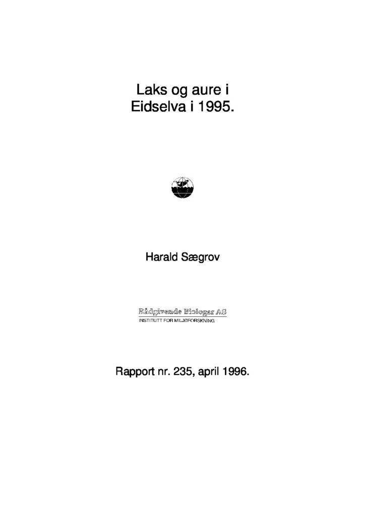 Rapport cover - rapport 235
